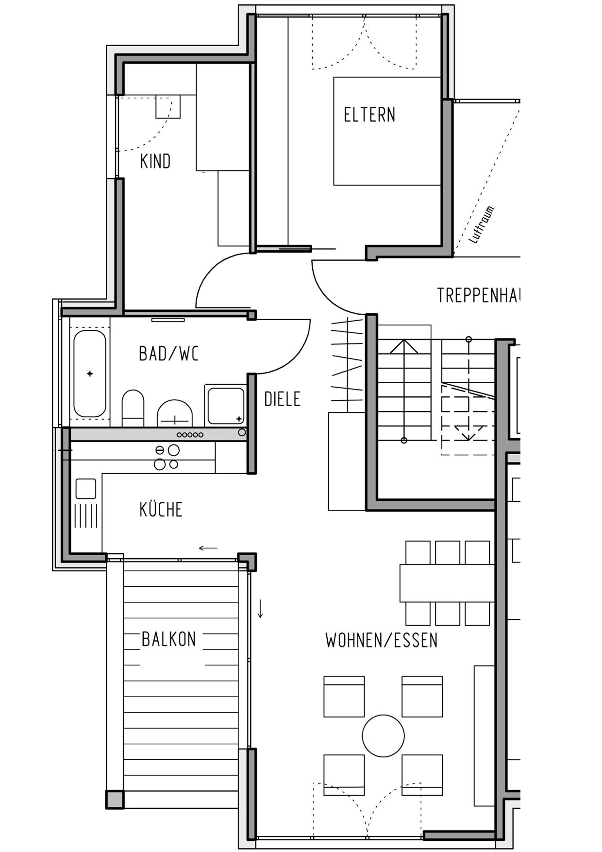 k che essen wohnen grundriss wasserhahn k che umklappbar buffetschrank weiss spritzschutz. Black Bedroom Furniture Sets. Home Design Ideas